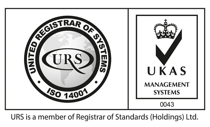 UKAS ISO14001 accredited
